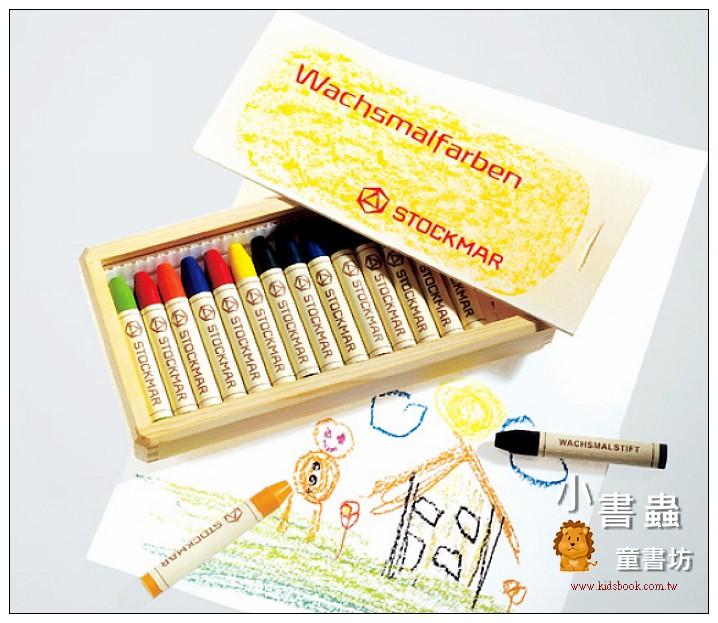 內頁放大:德國STOCKMAR:史都曼透明蜜蠟筆:16色木盒