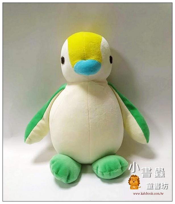 內頁放大:手工綿柔音樂布偶:胖胖企鵝 (黃、綠腳) (台灣製造)