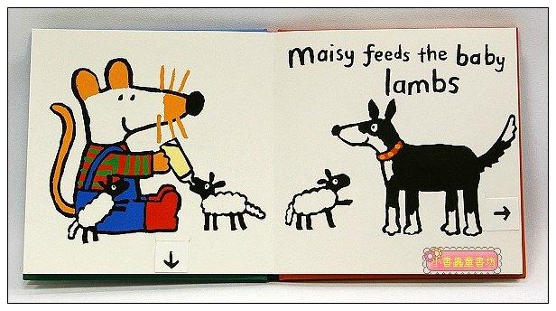 內頁放大:小鼠波波翻拉書:Maisy at the farm