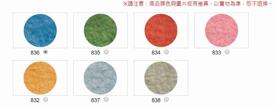 內頁放大:天然混合蠟筆色彩羊毛條 (多品項)(H440-008-編號)
