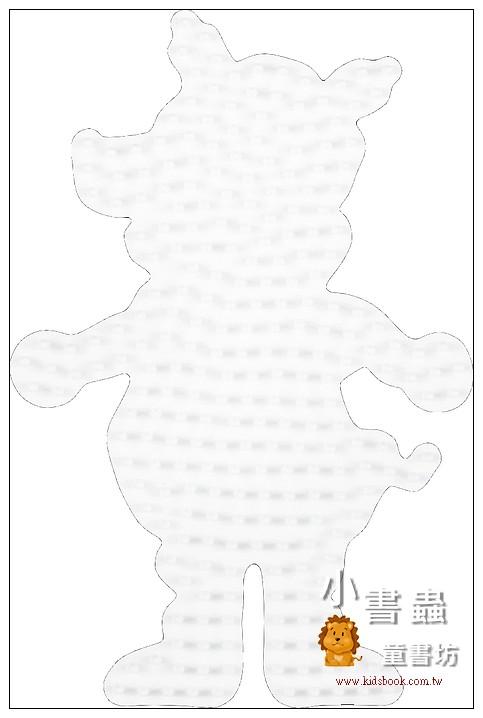 內頁放大:小豬造型模板:小拼豆模板