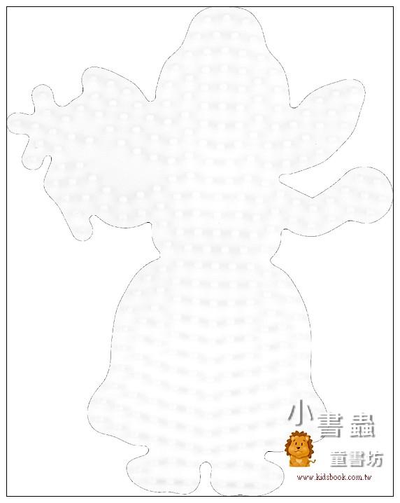 內頁放大:仙子造型模板:小拼豆模板