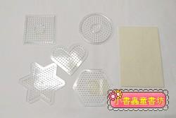 (透明)小模板5合1+助燙紙 :小拼豆模板