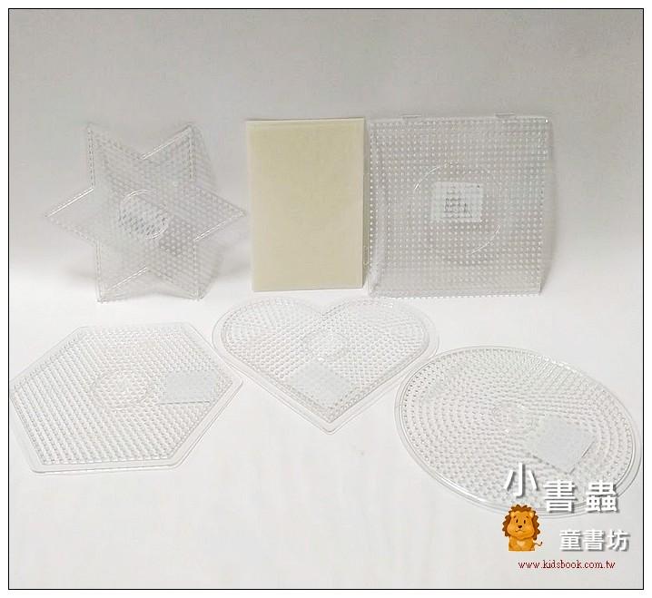 內頁放大:(透明)大模板5合1+助燙紙:小拼豆模板