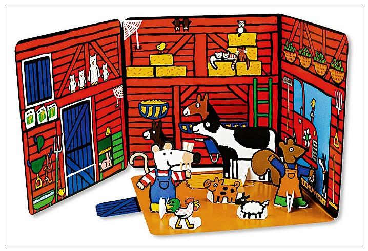 內頁放大:小鼠波波場景遊戲書(硬頁):Maisy,s Farm(波波的農場)