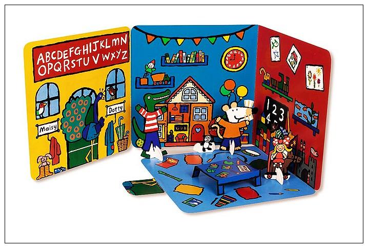 內頁放大:小鼠波波場景遊戲書(硬頁):Maisy,s Preschool(波波上學)