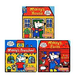 小鼠波波場景遊戲書(硬頁)3合1 Maisy,s House+Farm+Preschool