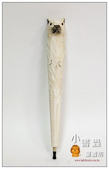 內頁放大:北極熊:純手工木頭動物筆(原子筆)