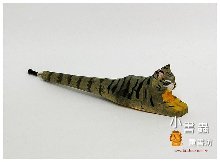 內頁放大:貓咪:純手工木頭動物筆(原子筆)