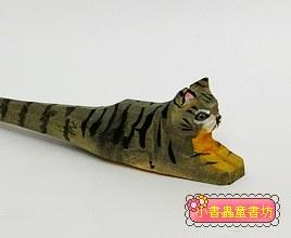 貓咪:純手工木頭動物筆(原子筆)