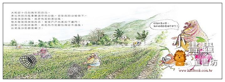 內頁放大:愛吹風的洋蔥 (知識繪本) (79折)