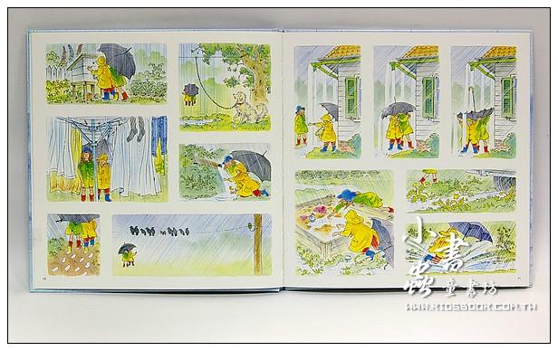 內頁放大:下雨天(無字繪本)日文版