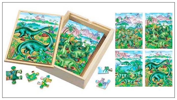 內頁放大:恐龍成長階梯拼圖(4.6.8.12片木製)(8折)
