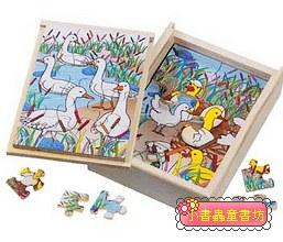 鴨子成長階梯拼圖(4.6.8.12片木製)(8折)