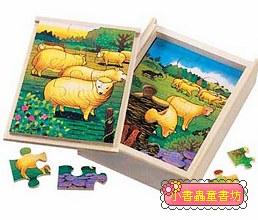 綿羊成長階梯拼圖(4.6.8.12片木製)(8折)
