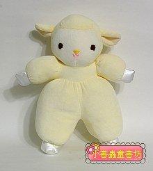 手工綿柔音樂布偶:粉黃羊寶寶 (台灣製造)