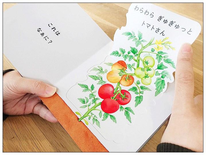 內頁放大:各式各樣的蔬菜長在哪裡?(硬頁翻翻書) (日文) (附中文翻譯)