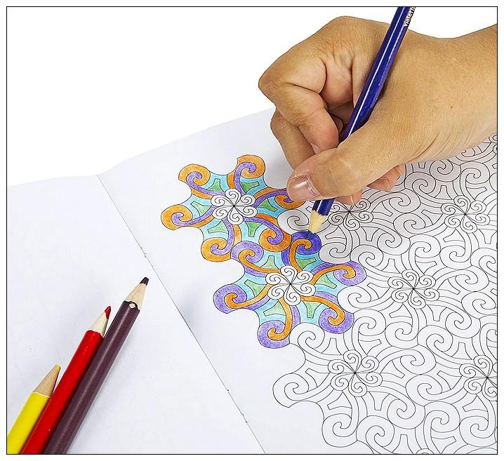內頁放大:設計師 - 幾何篇著色書 Designs: GeoDesigns