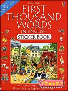 First Thousand Words in English Sticker book(貼紙書)