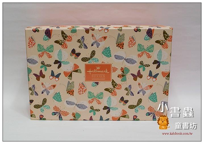 內頁放大:Hallmark圖紋風長型禮物盒(蝴蝶)XL(8折)