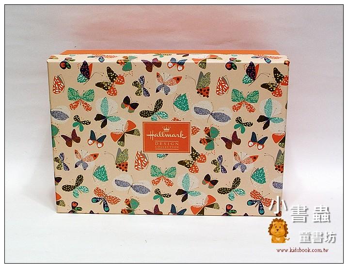 內頁放大:Hallmark圖紋風長型禮物盒(蝴蝶) L(8折)
