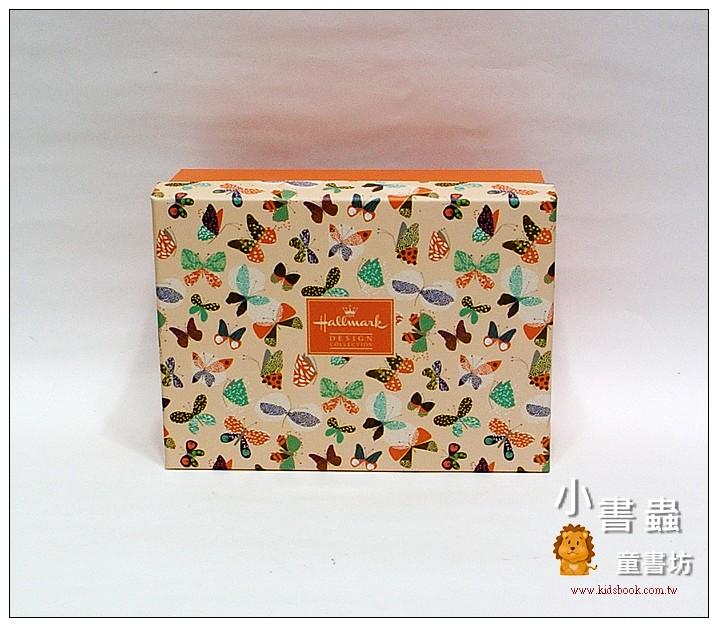 內頁放大:Hallmark圖紋風長型禮物盒(蝴蝶)S(8折)