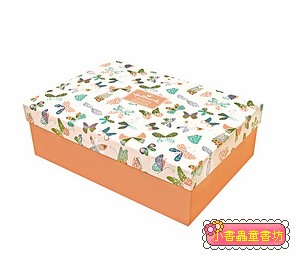 Hallmark圖紋風長型禮物盒(蝴蝶)S(8折)