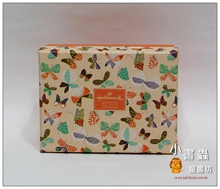 內頁放大:Hallmark圖紋風長型禮物盒(蝴蝶)XS(8折)