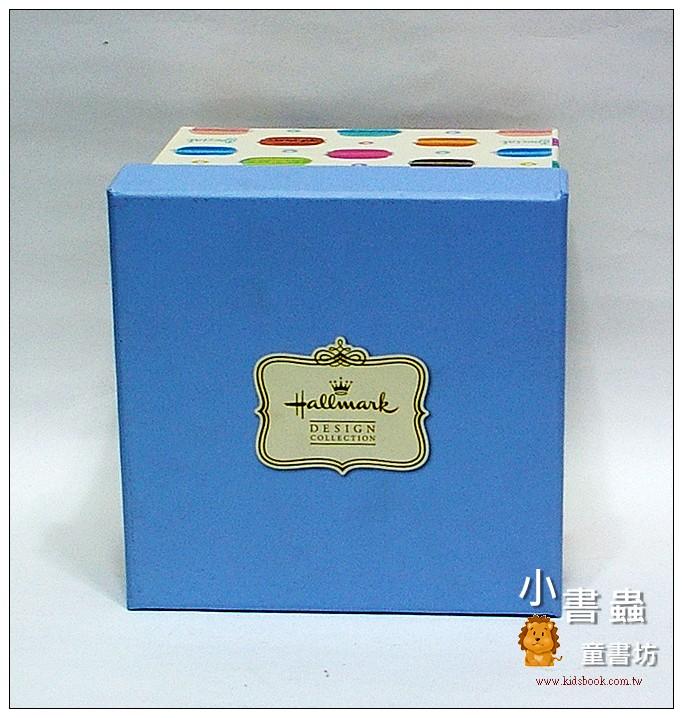 內頁放大:Hallmark圖紋風方型加高禮物盒(馬卡龍)L(8折)