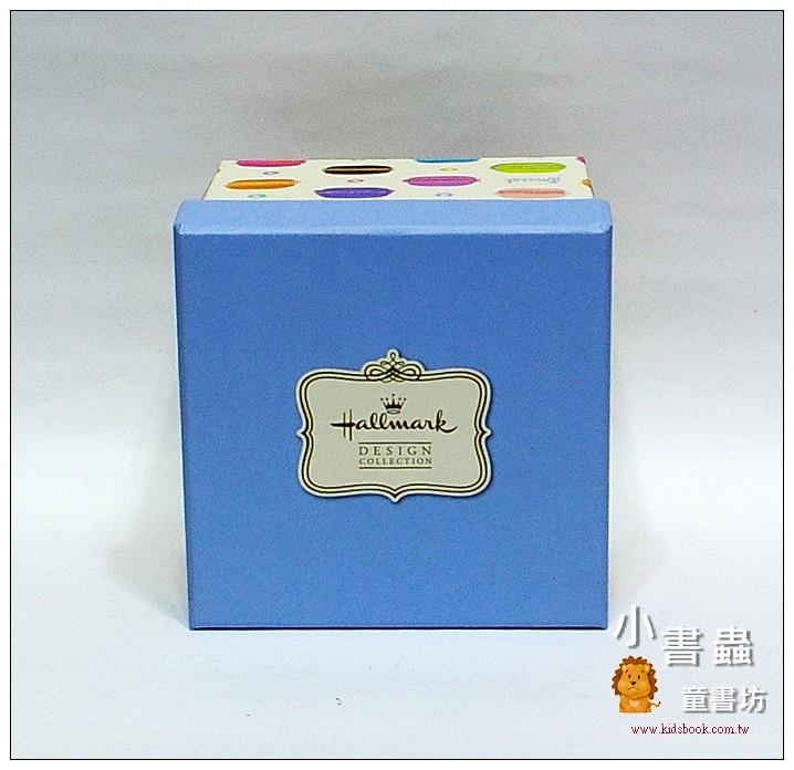 內頁放大:Hallmark圖紋風方型加高禮物盒(馬卡龍)M(8折)