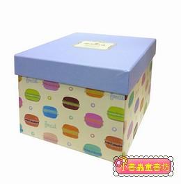 Hallmark圖紋風方型加高禮物盒(馬卡龍)M(8折)
