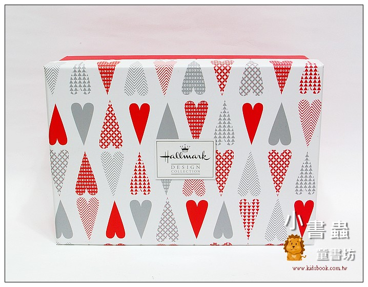 內頁放大:Hallmark圖紋風長型禮物盒(愛心) L(8折)