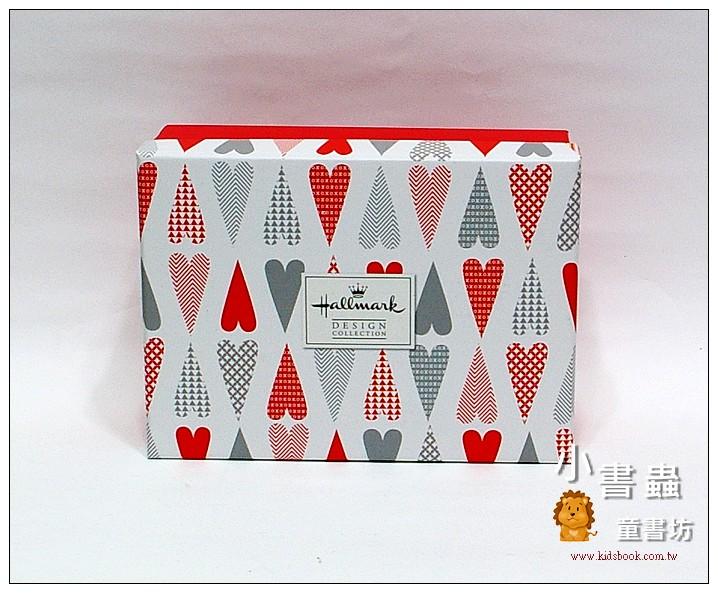 內頁放大:Hallmark圖紋風長型禮物盒(愛心) S(8折)