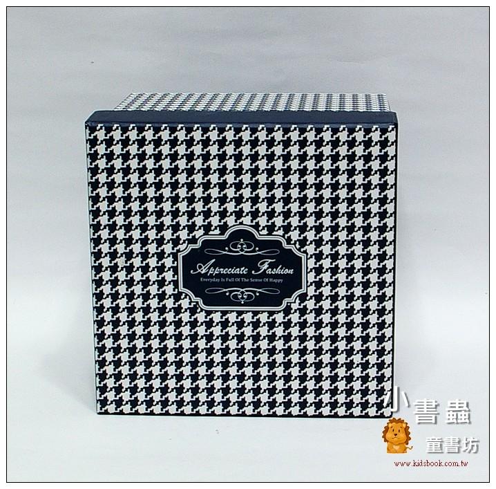 內頁放大:時尚系方型加高禮物盒(千鳥紋)XL