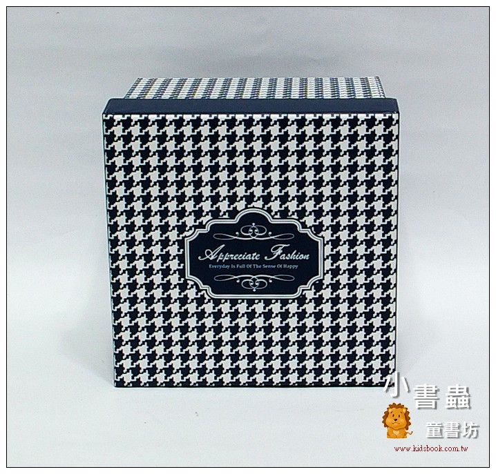 內頁放大:時尚系方型加高禮物盒(千鳥紋)L