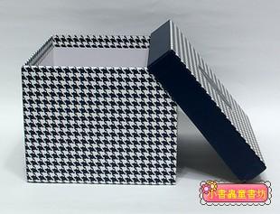 時尚系方型加高禮物盒(千鳥紋)L