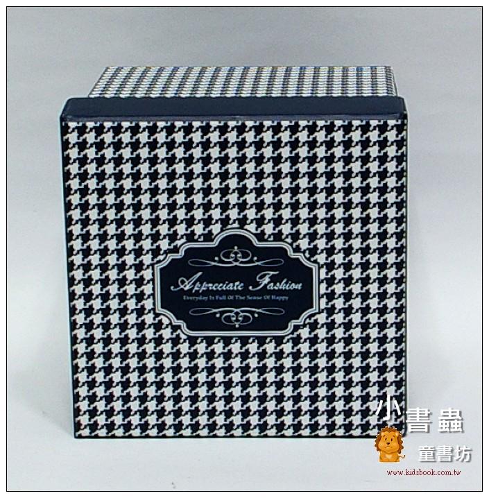 內頁放大:時尚系方型加高禮物盒(千鳥紋)M