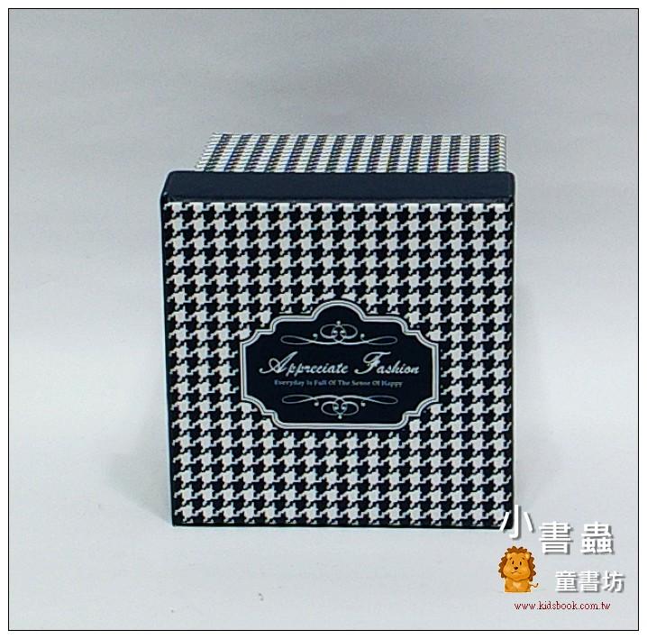 內頁放大:時尚系方型加高禮物盒(千鳥紋)S