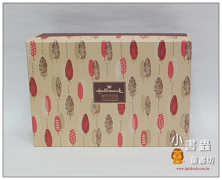 內頁放大:Hallmark圖紋風長型禮物盒(羽毛)L(8折)