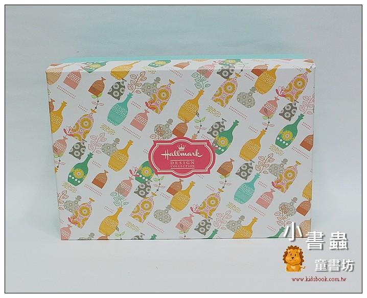 內頁放大:Hallmark圖紋風長型禮物盒(花瓶)L(8折)