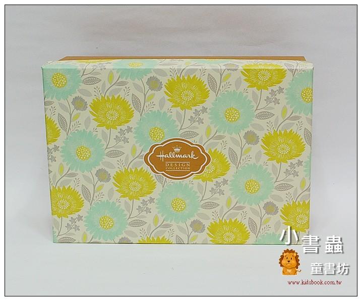 內頁放大:Hallmark圖紋風長型禮物盒(滿版花)L(8折)