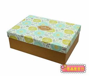 Hallmark圖紋風長型禮物盒(滿版花)L(8折)