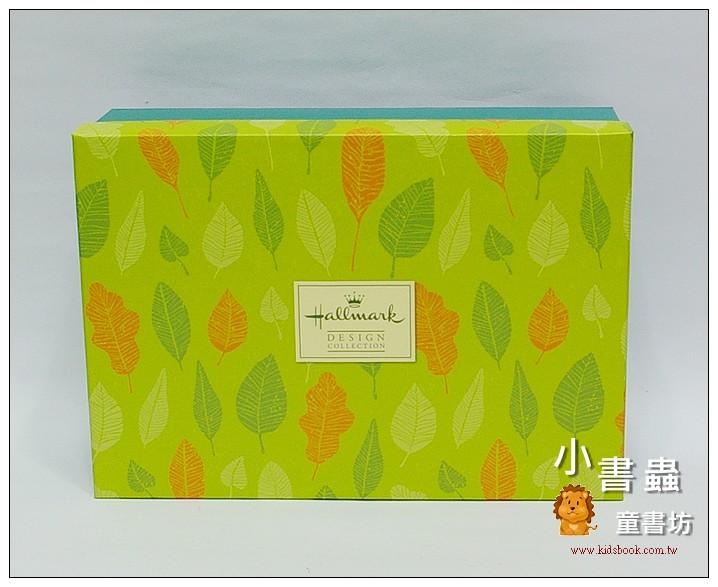 內頁放大:Hallmark圖紋風長型禮物盒(葉子)L(8折)