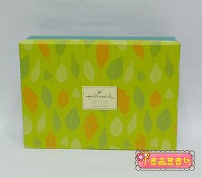 Hallmark圖紋風長型禮物盒(葉子)L(8折)