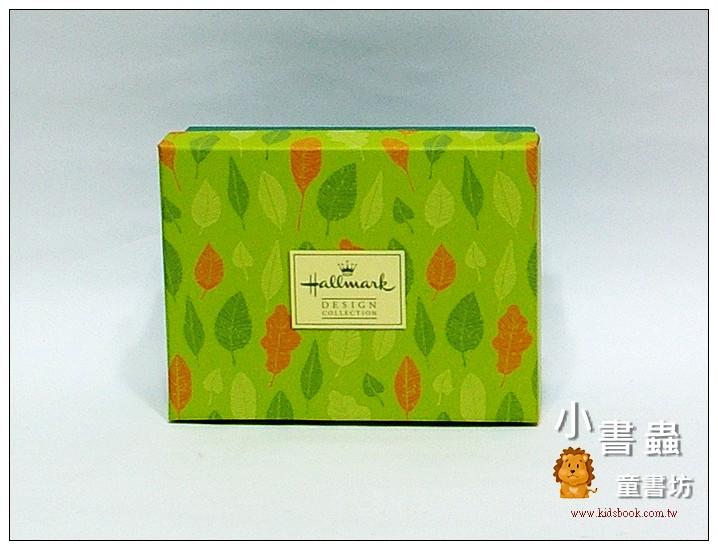 內頁放大:Hallmark圖紋風長型禮物盒(葉子) XS(8折)