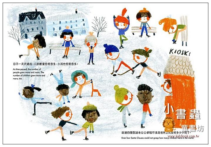 內頁放大:千千萬萬個聖誕老公公(中英雙語對照版)(79折)(2019新書)