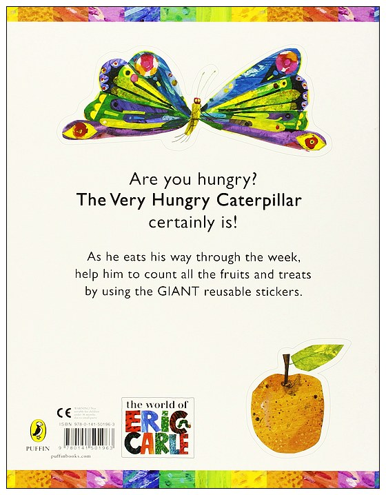 內頁放大:Count with the Very Hungry Caterpillar Sticker Book(好餓的毛毛蟲貼紙遊戲書)