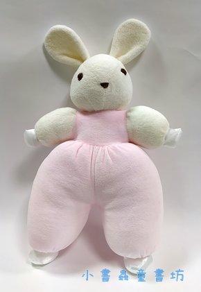 手工綿柔音樂布偶:兔子 (白頭白手) (粉紅) (台灣製造)