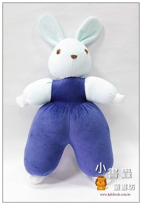 內頁放大:手工綿柔音樂布偶:寶貝兔(湛藍) (台灣製造)現貨:1