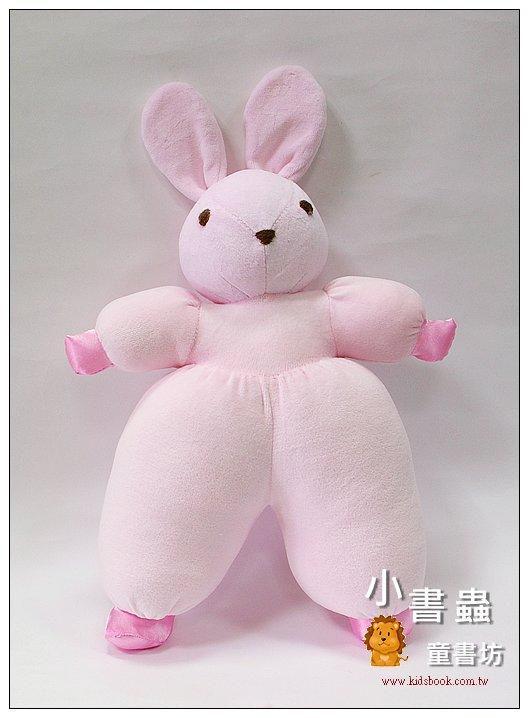 內頁放大:手工綿柔音樂布偶:寶貝兔(甜心粉紅) (台灣製造)